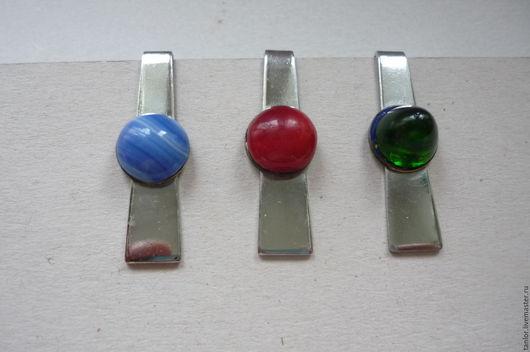Винтажные украшения. Ярмарка Мастеров - ручная работа. Купить Зажимы для галстука, 80-е годы.. Handmade. Комбинированный, галстук, зеленый