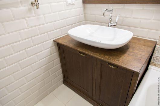 Мебель ручной работы. Ярмарка Мастеров - ручная работа. Купить Тумба в ванную комнату BUREAU. Handmade. Мебель для ванной