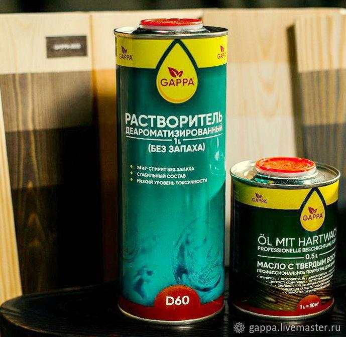 Растворитель GAPPA Без запаха! 1 литр, Лаки, Москва,  Фото №1