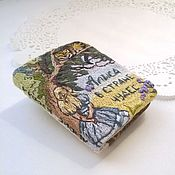 Украшения handmade. Livemaster - original item Brooch-pendant in the form of a book Alice in Wonderland. Handmade.