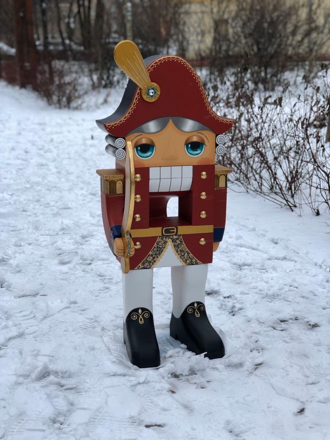 Nutcracker painted wooden 1 meter, Souvenirs3, Moscow,  Фото №1