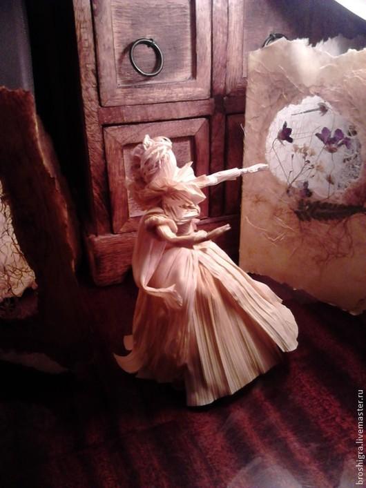 Кукольный театр ручной работы. Ярмарка Мастеров - ручная работа. Купить кукла из кукурузных листьев. Принцесса. Handmade. Бежевый