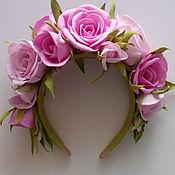 Украшения ручной работы. Ярмарка Мастеров - ручная работа Ободок для волос из роз. Handmade.
