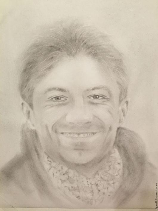 Люди, ручной работы. Ярмарка Мастеров - ручная работа. Купить Портрет мужчины. Handmade. Чёрно-белый, портрет карандашом