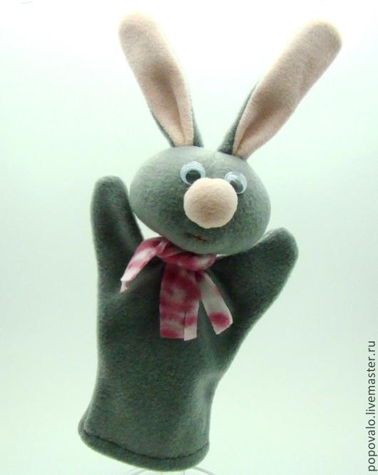 Кукольный театр ручной работы. Ярмарка Мастеров - ручная работа. Купить Заяц,игрушка для кукольного театра. Handmade. Игрушка для детей