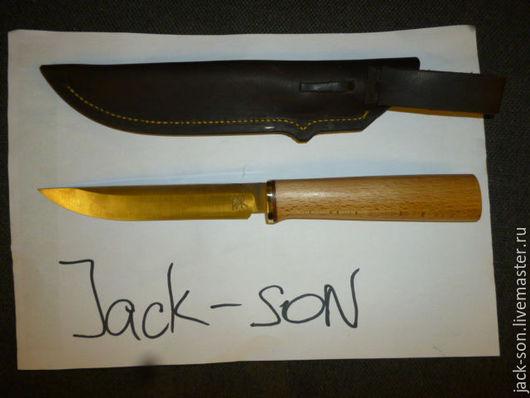 Быт ручной работы. Ярмарка Мастеров - ручная работа. Купить кованный нож. Handmade. Белый, шх 15