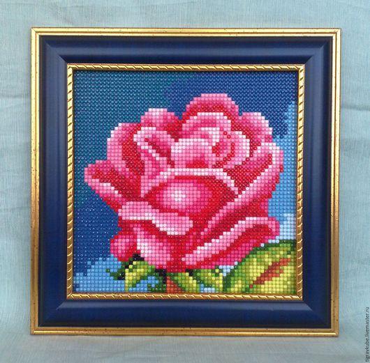 """Картины цветов ручной работы. Ярмарка Мастеров - ручная работа. Купить Картина алмазной мозаикой """"Роза"""". Handmade. Комбинированный, ручная"""