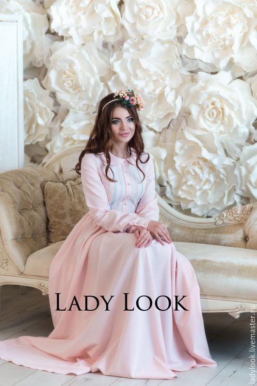 Платья ручной работы. Ярмарка Мастеров - ручная работа. Купить Платье look 207. Handmade. Бледно-розовый, женственное платье
