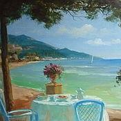 """Картины и панно ручной работы. Ярмарка Мастеров - ручная работа Картина """"На синем побережье"""". Handmade."""