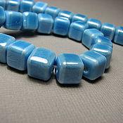 Материалы для творчества handmade. Livemaster - original item Ceramic bead square, cube 8 mm. Handmade.