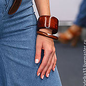 Украшения handmade. Livemaster - original item The band is rigid: Bracelet In wooden style Louboutin. Handmade.