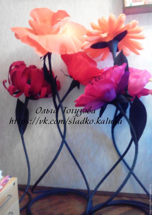 Цветы ручной работы. Ярмарка Мастеров - ручная работа. Купить Гигантские цветы из  бумаги. Handmade. Розовый, огромные цветы, пластик