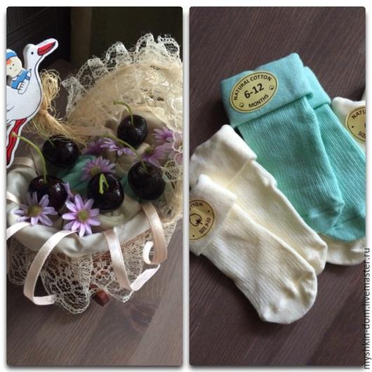 """Для новорожденных, ручной работы. Ярмарка Мастеров - ручная работа. Купить Букет из детских носочков """"Люлька с черешней"""". Handmade."""