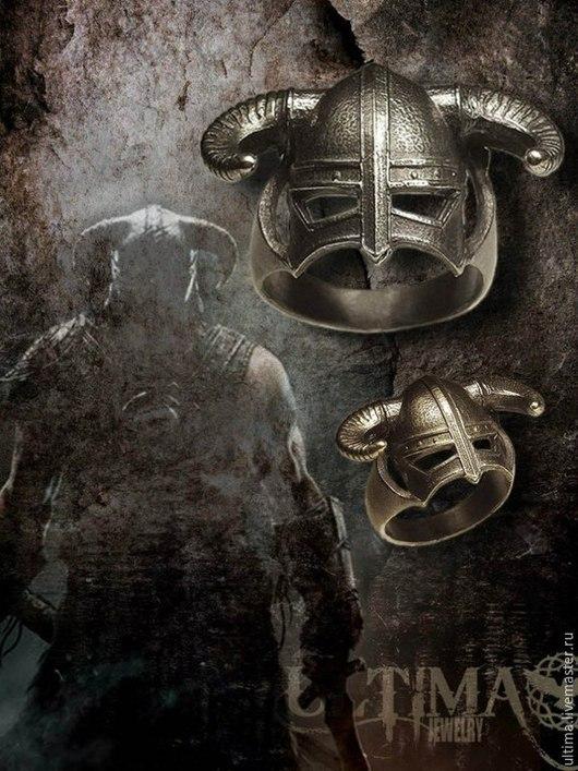 """Кольца ручной работы. Ярмарка Мастеров - ручная работа. Купить Кольцо """"Шлем Довакина"""". Handmade. Серебряный, шлем, шлем скайрим"""