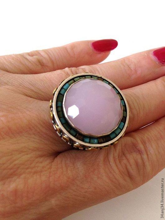"""Кольца ручной работы. Ярмарка Мастеров - ручная работа. Купить Кольцо """" Амбретта """". Handmade. Бледно-розовый, кольцо"""