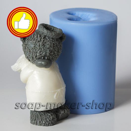 Материалы для косметики ручной работы. Ярмарка Мастеров - ручная работа. Купить Силиконовая форма для мыла «Тедди ангел 3D». Handmade.