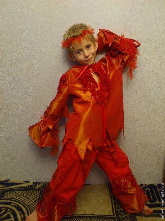 """Детские карнавальные костюмы ручной работы. Ярмарка Мастеров - ручная работа. Купить Костюм """"Мальчика Огня"""". Handmade. Рыжий"""