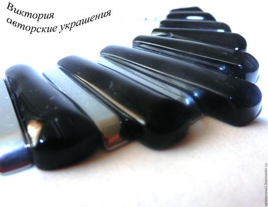 """Колье, бусы ручной работы. Ярмарка Мастеров - ручная работа. Купить Колье """"Рояль"""". Handmade. Черный, гематитовые бусины"""