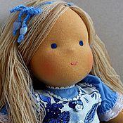 """Куклы и игрушки ручной работы. Ярмарка Мастеров - ручная работа вальдорфская кукла """"голубая Виктория"""" - 36см. Handmade."""