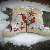 """Обувь ручной работы. Ярмарка Мастеров - ручная работа Валенки детские """"Морозко"""". Handmade."""