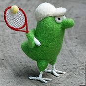 Куклы и игрушки ручной работы. Ярмарка Мастеров - ручная работа Птички-спортсмены.Теннисист. Handmade.