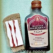 Косметика ручной работы. Ярмарка Мастеров - ручная работа Мыльный набор Коньяк и бутерброд с салом. Handmade.
