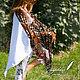 Шали, палантины ручной работы. Ярмарка Мастеров - ручная работа. Купить Летняя шаль из трикотажа  «Кошка невская маскарадная». Handmade.
