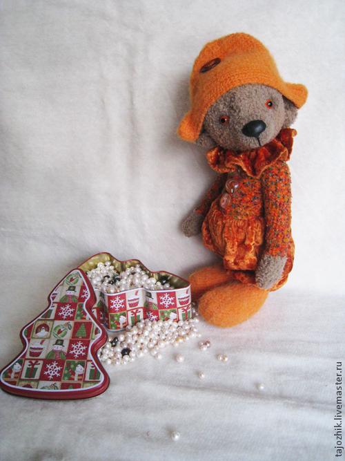 Мишки Тедди ручной работы. Ярмарка Мастеров - ручная работа. Купить Мишка Арлекин. Handmade. Рыжий, вязаная игрушка