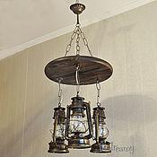 Для дома и интерьера handmade. Livemaster - original item Chandelier pendant lamp Kerosene lamp in loft retro style. Handmade.