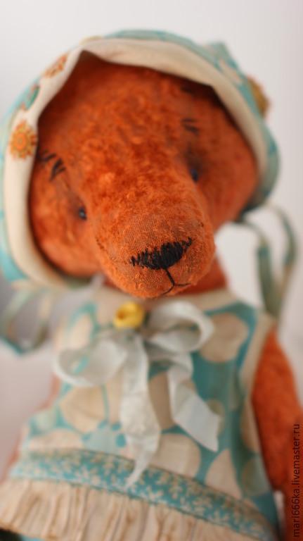"""Мишки Тедди ручной работы. Ярмарка Мастеров - ручная работа. Купить Зина. Коллекция """"Детский сад на пляже"""". Handmade. Оранжевый"""