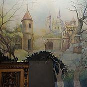 Дизайн и реклама ручной работы. Ярмарка Мастеров - ручная работа Роспись в библиотеке Замок. Handmade.