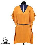 Одежда ручной работы. Ярмарка Мастеров - ручная работа Платье туника из шёлка, летнее платье кафтан. Handmade.