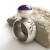 Украшения handmade. Livemaster - original item Silver ring with amethyst (silver 925, amethyst). Handmade.