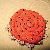 Украшения ручной работы. Ярмарка Мастеров - ручная работа оранжевое настроение,брош ручной работы, украсит ваш образ,дополнит ва. Handmade.