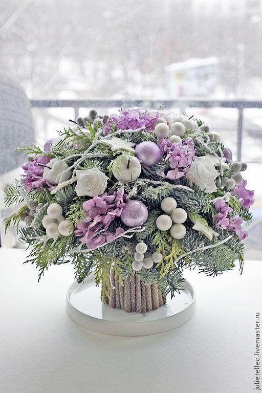 Зимние букеты и композиции