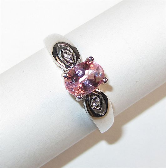 Кольца ручной работы. Ярмарка Мастеров - ручная работа. Купить Кольцо с турмалином серебряное. Handmade. Розовый, розовый камень