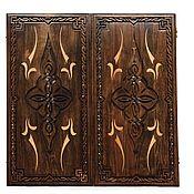 Сувениры и подарки handmade. Livemaster - original item Hand-carved backgammon