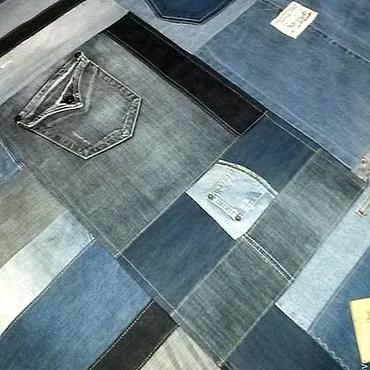 Для дома и интерьера ручной работы. Ярмарка Мастеров - ручная работа Большое джинсовое покрывало на заказ. Handmade.
