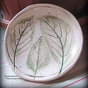 Посуда ручной работы. Ярмарка Мастеров - ручная работа Тарелочки Листья керамика ручная работа. Handmade.