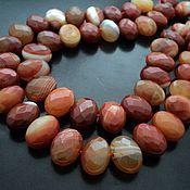 Материалы для творчества handmade. Livemaster - original item Agate natural large faceted beads 21mm. Handmade.