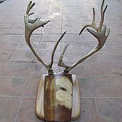 Для дома и интерьера handmade. Livemaster - original item wall hanger, antler, deer antler. Handmade.