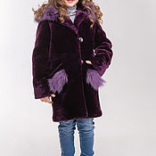 Работы для детей, handmade. Livemaster - original item Muton children`s fur coat