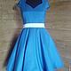 Ретро платье в стиле 50-60х годов. Платье ручной работы.