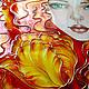 """Картины цветов ручной работы. Картина """"Рыжая Кэт"""". Екатерина. Интернет-магазин Ярмарка Мастеров. Девушка, картина с цветами, бумага"""