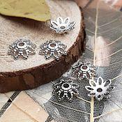 Материалы для творчества handmade. Livemaster - original item Cap beads 10x2.2 mm platinum (3380). Handmade.