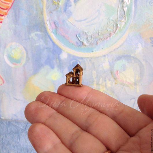 Миниатюрные модели ручной работы. Ярмарка Мастеров - ручная работа. Купить Микрозамок с мебелью. Handmade. Бежевый, дерево
