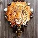 """Кулоны, подвески ручной работы. Ярмарка Мастеров - ручная работа. Купить Кулон """"Лапочка"""". Handmade. Оранжевый, акриловая краска"""