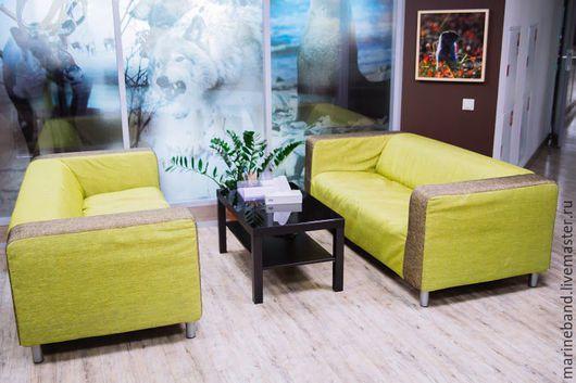 Мебель ручной работы. Ярмарка Мастеров - ручная работа. Купить Чехол на диван КЛИППАН (IKEA). Handmade. Комбинированный, чехол на заказ
