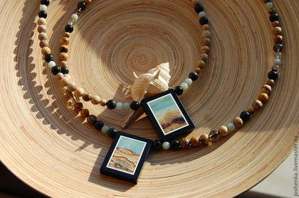 """Колье, бусы ручной работы. Ярмарка Мастеров - ручная работа Колье """"Песчаный пляж"""". Handmade."""