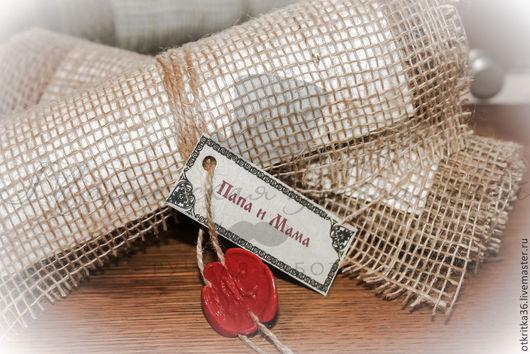 Свадебные аксессуары ручной работы. Ярмарка Мастеров - ручная работа. Купить Приглашение на свадьбу в старорусском стиле. Свиток.. Handmade.